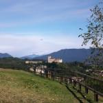 Rocca d'Angera vista dal parco della Rocca Borromeo di Arona