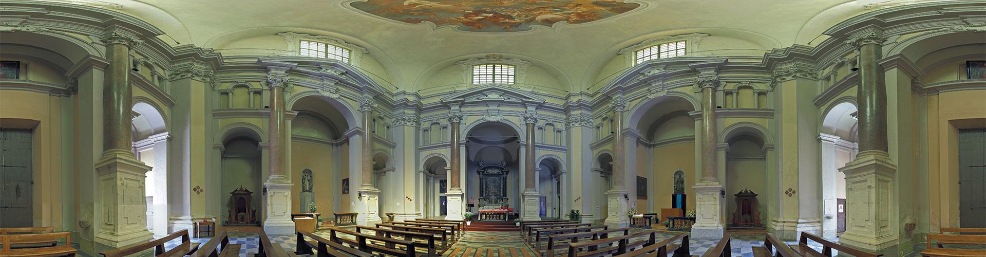 Interno della Chiesa San Borromeo ad Arona